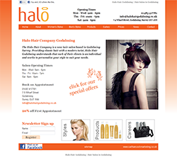 Halo Hair Godalming Web Design