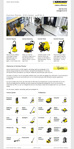 Karcher Doctor Web Design