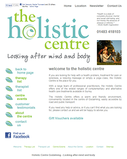 The Holistic Centre Web Design
